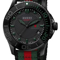 Gucci 'G Timeless' Nylon Strap Watch