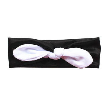 Lovely Baby Kids Girls Infant Rabbit Bow Ear Hairband Headband Turban Knot Head Wraps For Baby Girls INY66