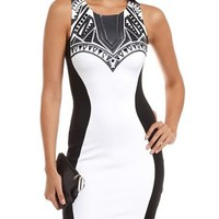 Embellished Scuba Body-Con Dress: Charlotte Russe