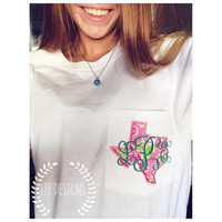 Lilly Pulitzer Monogrammed State Pocket T-Shirt