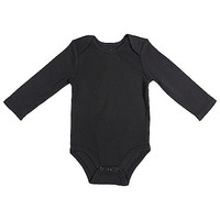 Mayfair Infants Wear Long-Sleeve Bodysuit in Black