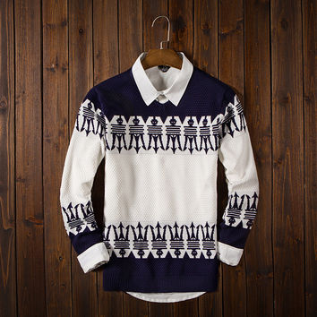 Men's Ethnic Fair Isle Comfortable Soft Sweater