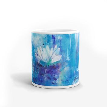 Blue Waterlily Mug