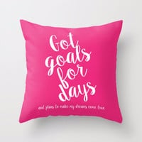 Goals For Days Pillow