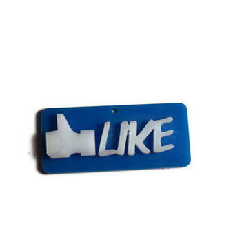 Facebook LIKE Necklace by DeathwishDesign on Etsy