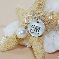 Initial Bridesmaid Necklace Personalized Bridesmaid Gift