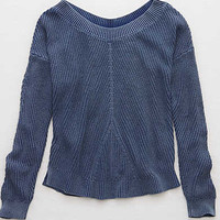 Aerie Pullover Sweater, Deep Waters
