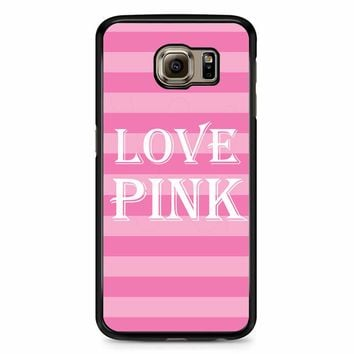 Victoria Secret Love Pink Samsung Galaxy S6 Case