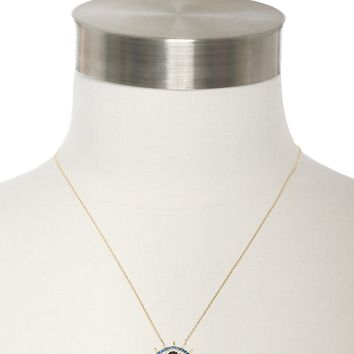 Marlyn Schiff Eye Shaped Pendent Necklace