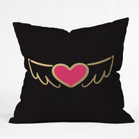 Lisa Argyropoulos On Golden Wings of Love Throw Pillow