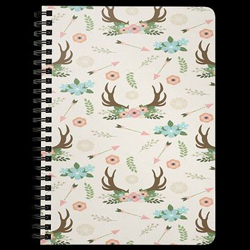 BoHo Notebook Journal DayBook Diary Spiraled Lined Notebook Custom Journal Daily Writing Tablet