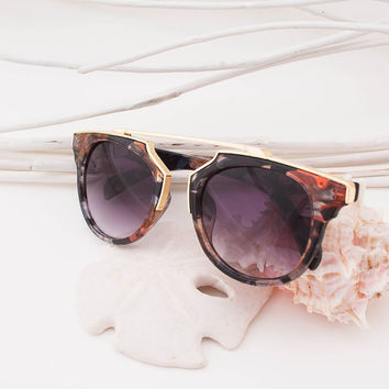 Cat Eye Floral Vintage Sunglasses