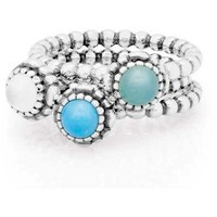 Authentic Pandora Jewelry - Ocean Surf Ring Stack