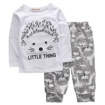 baby boys clothes set 2pcs Newborn Toddler Infant Baby Boy Girl Clothes T-shirt Tops Pants Outfits Set
