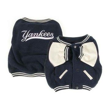 PEAP7N7 New York Yankees Varsity Dog Jacket