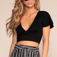 Darren Crop Top - Black