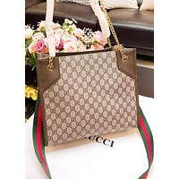 GUCCI Fashion New More Letter Leather Chain Shoulder Bag Women