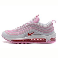 """NIKE"" Trending Fashion Casual Sports Shoes Air section pink white"