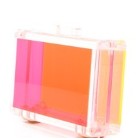 CC SKYE Bright Love Lucite Clutch | SHOPBOP
