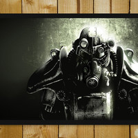 Fallout Game Glass Framed Poster