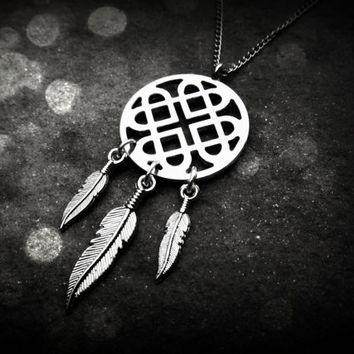 Dream Catcher Necklace  Celtic Catcher by ChezlyXsane on Etsy