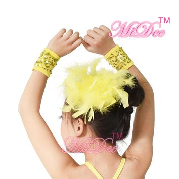 Girls Stage Performance Feather Headpiece Dance Feather Hair Accessories