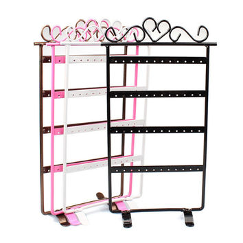 Fashion 48 Hole Earrings Jewelry Display Rack Metal Stand Holder Showcase Anne