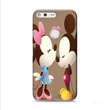 Mickey And Minnie kiss sepia Google Pixel 2 case