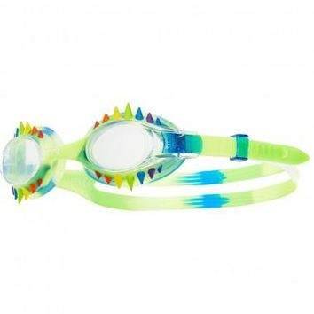 TYR Swimple Spikes Tie Dye Kids Blue Swim Goggles / Clear Lenses