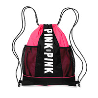 Mesh Pocket Drawstring Backpack - PINK - Victoria's Secret