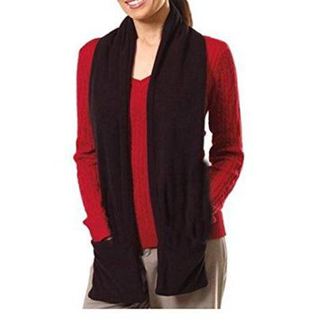 "Bits and Pieces - Micro Fleece Battery-operated Heated Scarf - 66"" Long"