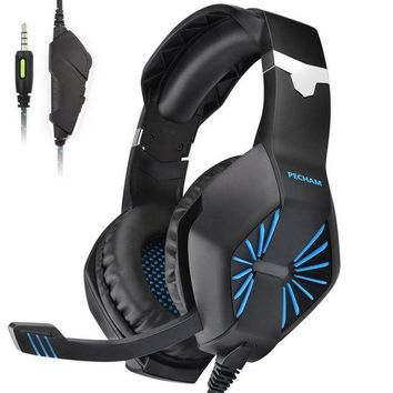 ONETOW PECHAM Gaming Headset with Mic for New Xbox One, PS4,Nintendo Switch, PC - Surround Sound, Noise Reduction Game Earphone - 3.5MM Jack for Smart phone, Laptops, computer