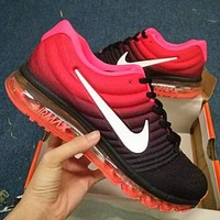 """""""NIKE"""" Air Trending Fashion Casual Sports Shoes AirMax section black red I"""