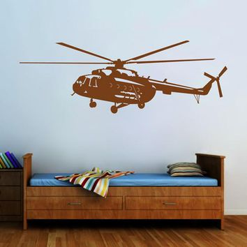 ik2320 Wall Decal Sticker military helicopter air transport children living room