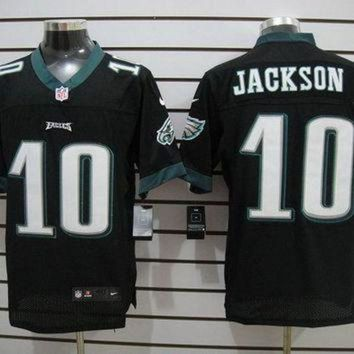 PEAP1N Nike Eagles #10 DeSean Jackson Black Alternate Mens NFL Elite Jersey