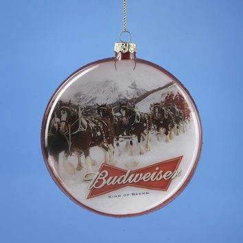 12 Christmas Ornaments - Budweiser Beer Clydesdale Horse
