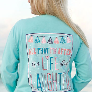 Jadelynn Brooke: All I'm After is a Life Full of Laughter Long Sleeve {Chalky Mint}