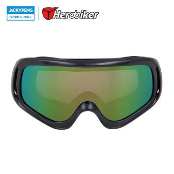 HEROBIKER Motorcycle Riding Goggles Motocross Off-Road Dirt Bike Downhill Racing Goggles Ski Snowboard Windproof Glasses Eyewear