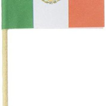 KingSeal Mexican Flag Toothpicks 25 Inch  2 packs of 144 each 288 pcs total Mexico Flag Picks for Sandwiches Appetizers Cocktails and More