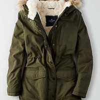 AEO Longer Length Parka , Olive
