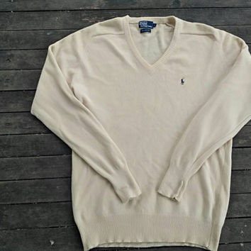 Polo Ralph Lauren sweater 100%Lambswool design vintage winter wear