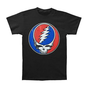 Grateful Dead Men's  Steal Your Face T-shirt Black