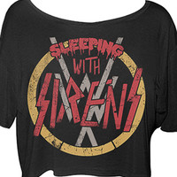 Sleeping With Sirens | Slayed Wideneck Crop