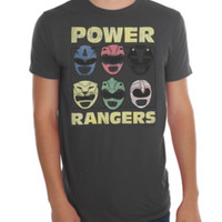 Mighty Morphin Power Rangers Helmets T-Shirt