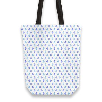 Blue droplets pattern Totebag by Savousepate from €25.00 | miPic
