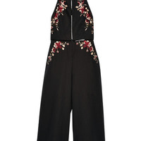 Zimmermann - Sakura embroidered linen and cotton-blend jumpsuit