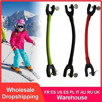 Safe  Ski Tip Connector Outdoor Elastic Clip Winter Kids Protection Latex Sports Training Compact Easy Wedge Removable Beginner