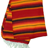 Mexican Sarape Serape Blankets - Red