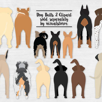 Dog Butts Clipart 2 Funny Dog Graphics Pet Clipart Labrador Retriever Min Pin Shiba Inu Doberman Chihuahua Yorki Australian Shepherd Pointer