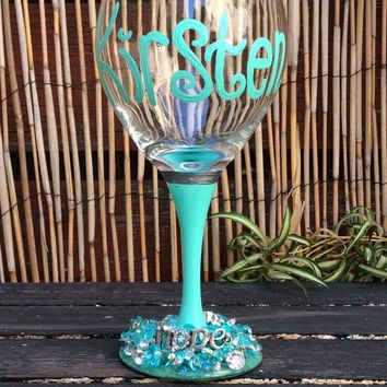 That's MINE!-- completely custom wine glass
